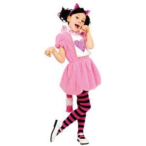 子供用 コスプレ衣装 【ワンダーチェシャガールキッズ 120cmサイズ】 カチューシャ ワンピース ポリエステル 〔ハロウィン〕の画像