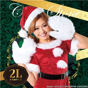【クリスマスコスプレ 衣装】キャンディサンタ 2Lサイズ - 拡大画像