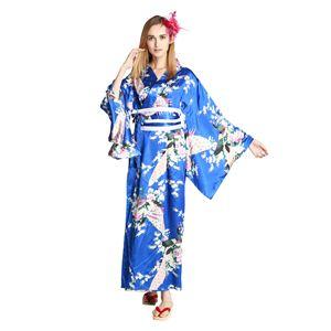 【コスプレ・着物ドレス】Empress Royal Blue M - 拡大画像
