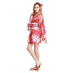 【コスプレ・着物ドレス】Flower Princess Red M - 拡大画像