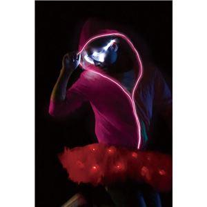 光るパーカー 【ピンク】 レディース155〜165cm 『ELEX エレクトリック イーエックス』 〔コスプレ イベント〕 - 拡大画像