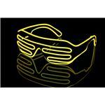 ELEX(エレクトリック イーエックス)光るブラインドサングラス 黄