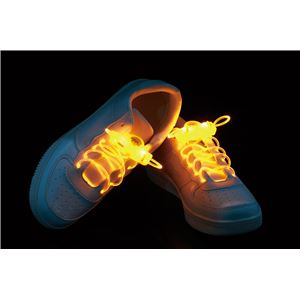光るシューストリング/靴紐 【イエロー】 電池式 点滅型 『ELEX エレクトリック イーエックス』 〔コスプレ イベント〕 - 拡大画像