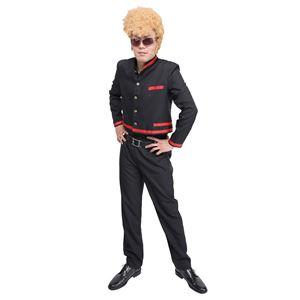 学ラン/コスプレ衣装 【短ラン 赤ライン】 メンズ180cm迄 上着 パンツ付き 『木更津』 〔イベント パーティー〕の画像