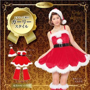【クリスマスコスプレ 衣装】 フラワーペタルサンタ - 拡大画像