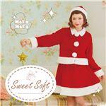 【クリスマスコスプレ 衣装】 Sweet Soft キュートツーピースサンタ