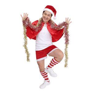 クリスマスコスプレ/衣装 【スーパーサンタマン】 メンズ180cm迄 ポリエステル 〔イベント パーティー〕