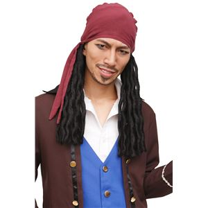 ウィッグ/コスプレ衣装 【キャプテン海賊】 塩化ビニル製 『カツランド』 〔ハロウィン パーティー〕
