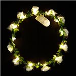 光る花かんむり 【ホワイト】 電池式 ポリエチレン 『ELEX エレクトリック イーエックス』 〔コスプレ イベント〕