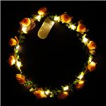 光る花かんむり 【オレンジ】 電池式 ポリエチレン 『ELEX エレクトリック イーエックス』 〔コスプレ イベント〕