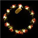光る花かんむり 【ピンク】 電池式 ポリエチレン 『ELEX エレクトリック イーエックス』 〔コスプレ イベント〕