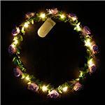 光る花かんむり 【ラベンダー】 電池式 ポリエチレン 『ELEX エレクトリック イーエックス』 〔コスプレ イベント〕