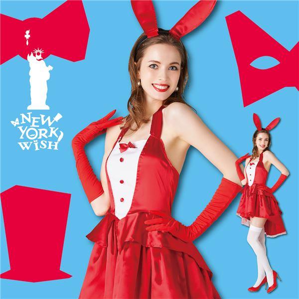 【ハロウィン うさぎコスプレ衣装 大人用】 New York Wish(ニューヨークウィッシュ) NYW シャンパンバニー レッド