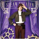 コスプレ衣装/コスチューム 【飛行士 メンズ】 身長180cm迄 ポリエステル 『steampunk』 〔イベント〕