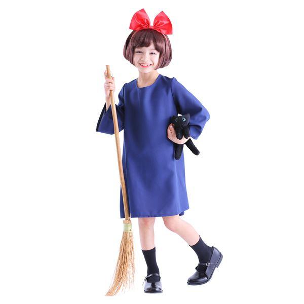 56da587b7faba 子供用 コスプレ衣装 【魔女の宅配屋さん キッズ140サイズ】 カチューシャ ワンピース