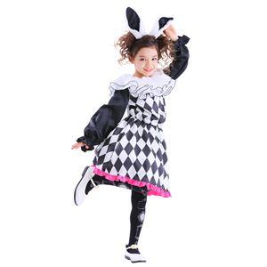 4ef9711bebba5 子供用 コスプレ衣装 【レディラビット 140サイズ】 カチューシャ ワンピース付き ポリエステル 〔ハロウィン