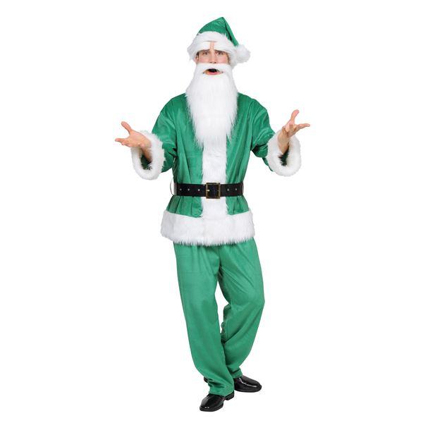 サンタコスチューム グリーン・緑「GOGOサンタサン/グリーン」