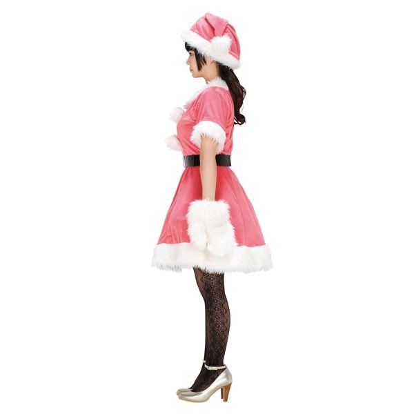 【サンタコスチューム ピンク レディース】 カラフルサンタ(ピンク)