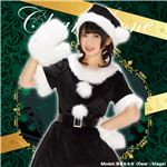 【クリスマスコスプレ 衣装】 カラフルサンタ ブラック 黒