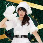 サンタコスプレ/コスプレ衣装 【ホワイト】 身長155cm〜165cm 帽子 ワンピース ベルト 手袋付き 『カラフルサンタ』