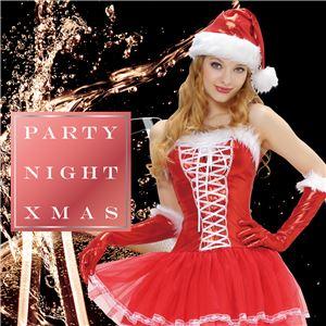 【クリスマスコスプレ 衣装】 シャイニーレースアップサンタ - 拡大画像