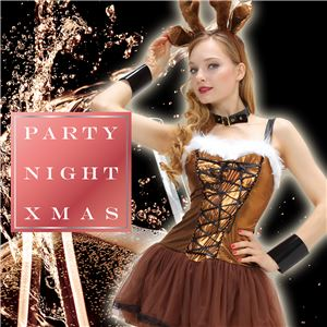 【クリスマスコスプレ 衣装】 シャイニーレースアップトナカイの画像