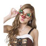 クリスマスコスプレ/衣装 【トナカイサングラス】 プラスチック製 〔イベント パーティー〕