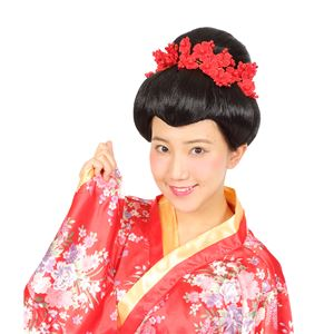 ウィッグ/コスプレ衣装 【日本髪】 塩化ビニル製 『カツランド』 〔ハロウィン パーティー〕 - 拡大画像