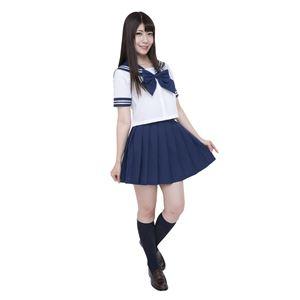 【コスプレ】カラーセーラー 紺Lの画像