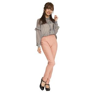 ウルトラフィット美脚パンツ 【ピンク Mサイズ】 ウエスト63cm〜69cm 洗える ストレッチ素材 ウエストゴム