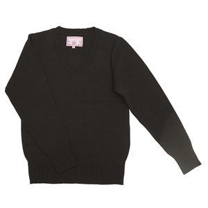Teens Ever(ティーンズエバー) Vネックセーター(ブラック) Lサイズの画像