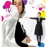マント/コスプレ衣装 【ホワイト】 ユニセックス180cm迄 ポリエステル 『ビッグステージマント』 〔イベント パーティー〕