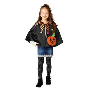 子供用 コスプレ衣装 【キューティパンプキンマント】 ボタン仕様 ポリエステル 〔ハロウィン〕の画像