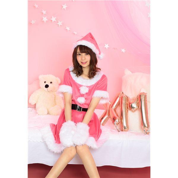 可愛いピンクカラーで女子度アップ☆カラフルサンタ(ピンク)