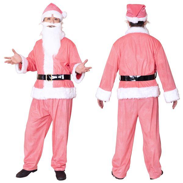 【サンタコスプレ ピンク/メンズ】 GOGOサンタサン ピンク