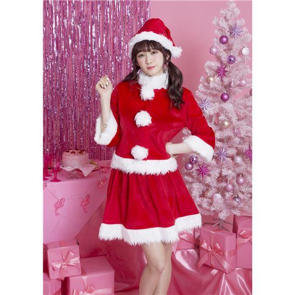【クリスマスコスプレ 衣装】 ベイシックサンタ レッド