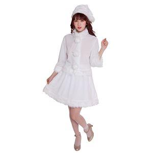 【クリスマスコスプレ 衣装】 ベイシックサンタ ホワイトの画像