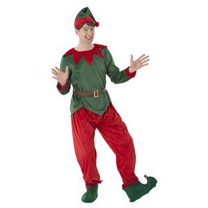クリスマスコスプレ/衣装 【エルフトントゥ】 メンズ180cm迄 ポリエステル 〔イベント パーティー〕 - 拡大画像