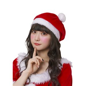クリスマスコスプレ/衣装 【サンタベレー帽】 ポリエステル 〔イベント パーティー〕 - 拡大画像