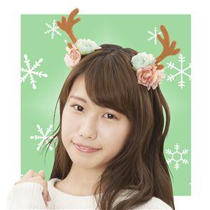 【クリスマスコスプレ 衣装】 フラワートナカイカチューシャ - 拡大画像