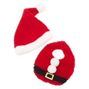 クリスマスコスプレ/衣装 【サンタスタイセット】 0〜2歳目安 ポリエステル 〔イベント パーティー〕の画像