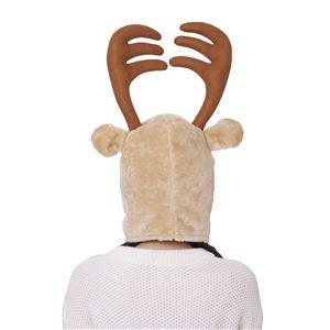 サンタコスプレ/コスプレ衣装 【マジなトナカイかぶりもの】 前面ファスナー ポリエステル製 『マジサンタ』