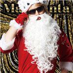 サンタコスプレ/コスプレ衣装 【マジなサンタヒゲ】 付け髭単品 全長約50cm ポリプロピレン製 『マジサンタ』