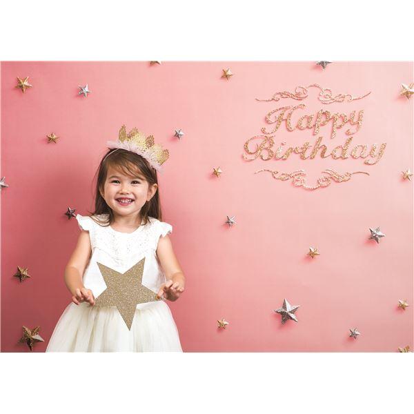 フォトポスター/壁紙ポスター 【Happy Birthday ピンクゴールド】 A0サイズ 841mm×1189mm 紙製 『イエスタ iesta』