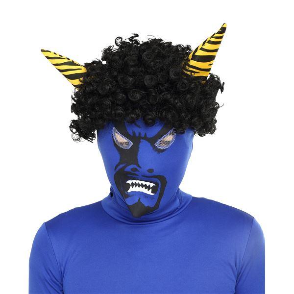 【コスプレ】リアル鬼マスク青の画像1