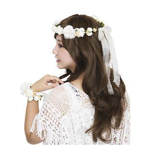 花かんむり&バングルセット クリーム