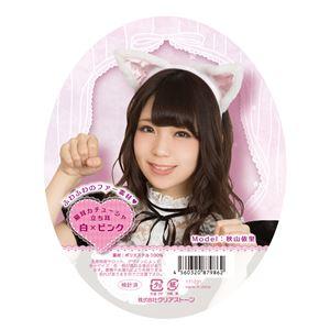 猫耳カチューシャ 立ち耳 白×ピンクの画像
