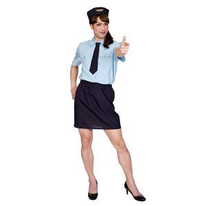 コスプレ衣装/コスチューム 【ドキドキポリスMAN】 帽子 シャツ ネクタイ スカート付き 『女装MAN』 〔ハロウィン〕 - 拡大画像