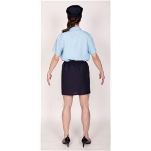 コスプレ衣装/コスチューム 【ドキドキポリスMAN】 帽子 シャツ ネクタイ スカート付き 『女装MAN』 〔ハロウィン〕