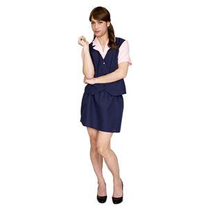 コスプレ衣装/コスチューム 【テキパキOL MAN】 シャツ付きベスト スカート付き 『女装MAN』 〔ハロウィン〕の画像